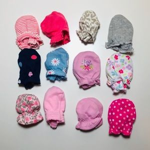 Baby Girl Mittens